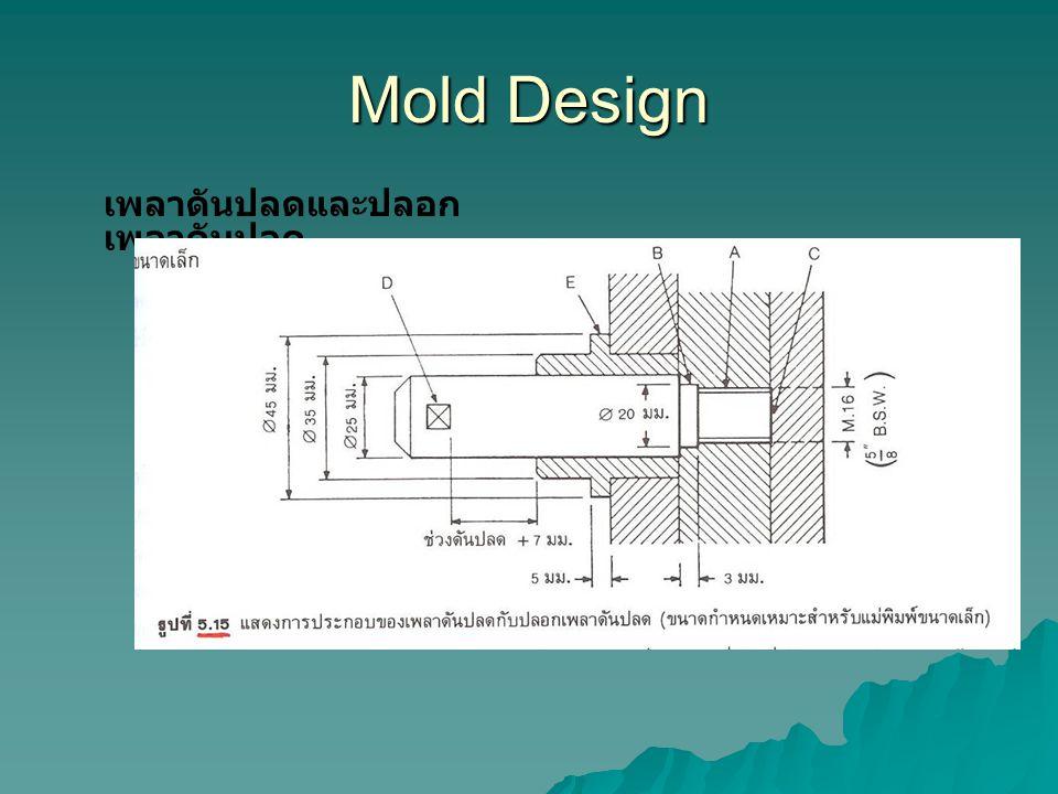 Mold Design เพลาดันปลดและปลอกเพลาดันปลด