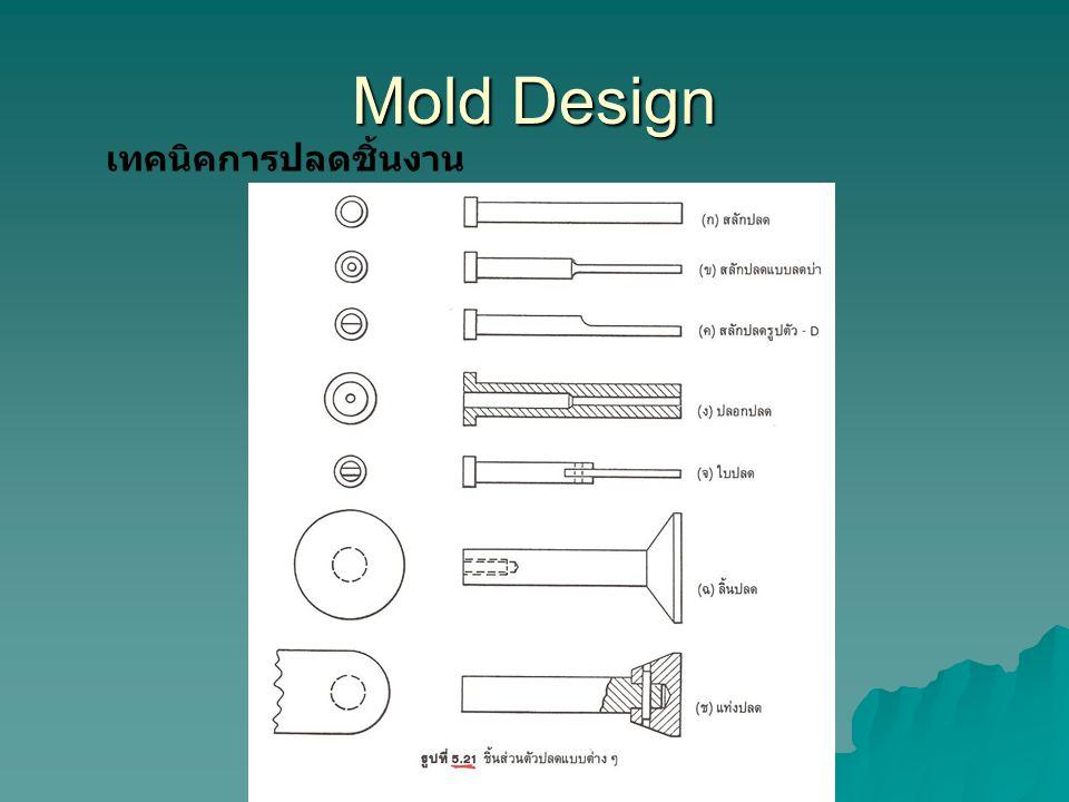 Mold Design เทคนิคการปลดชิ้นงาน