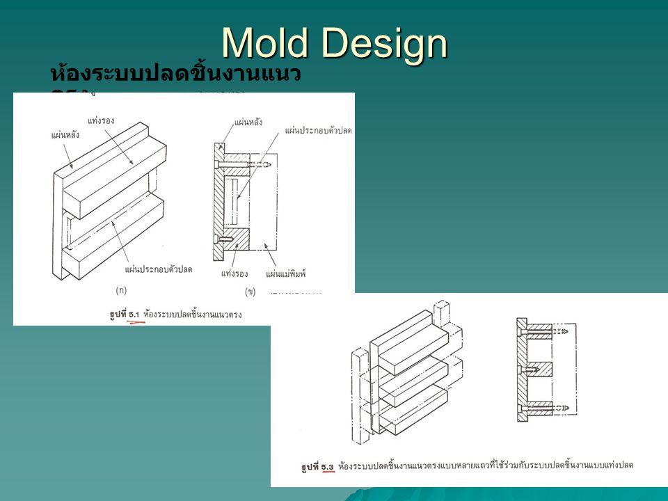 Mold Design ห้องระบบปลดชิ้นงานแนวตรง