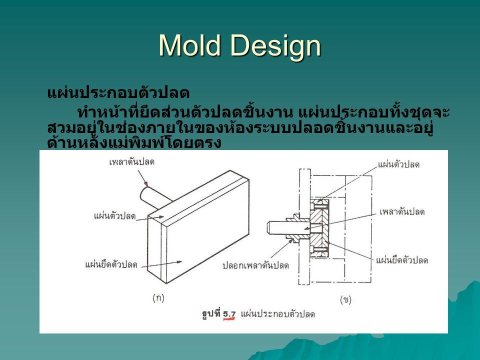 Mold Design แผ่นประกอบตัวปลด