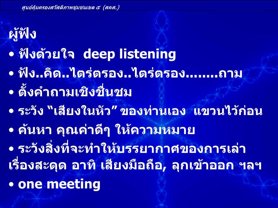 ฟังด้วยใจ deep listening