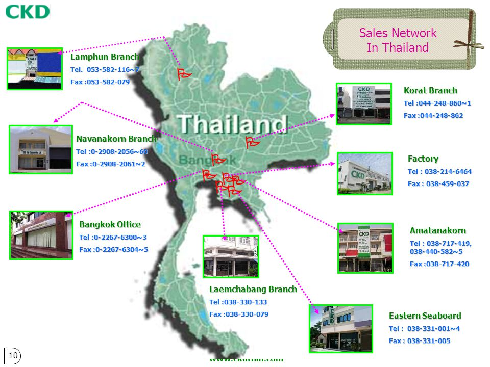         Sales Network In Thailand Lamphun Branch Korat Branch