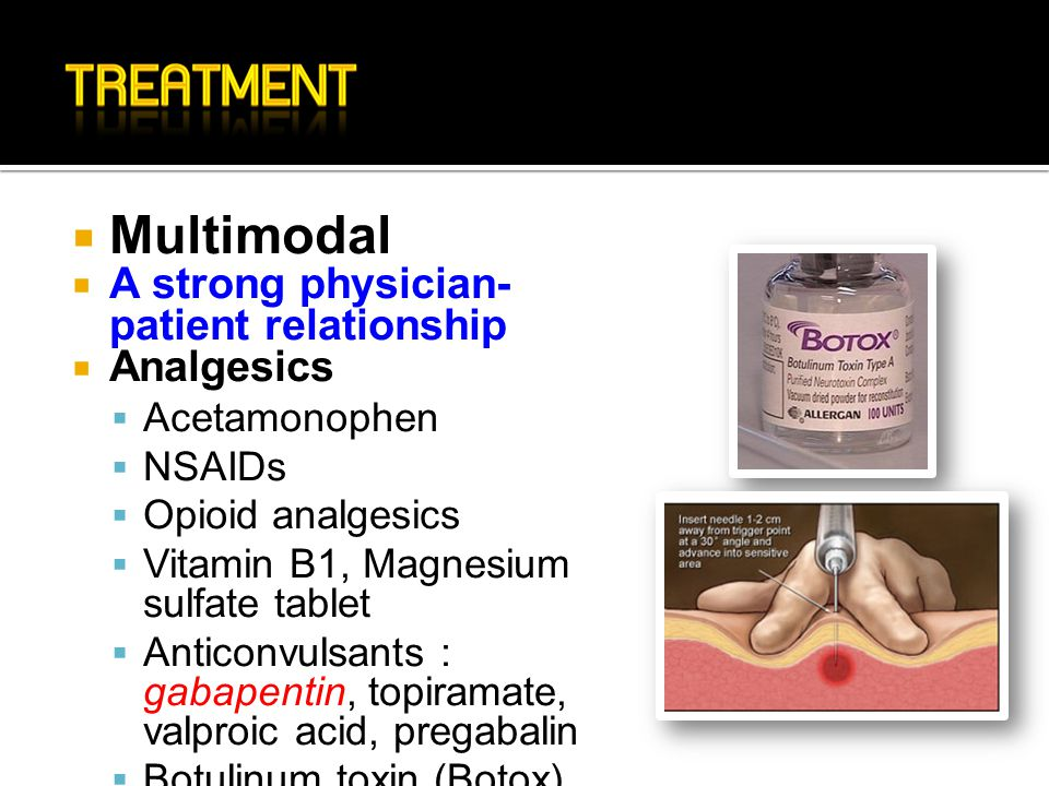 Multimodal A strong physician-patient relationship Analgesics
