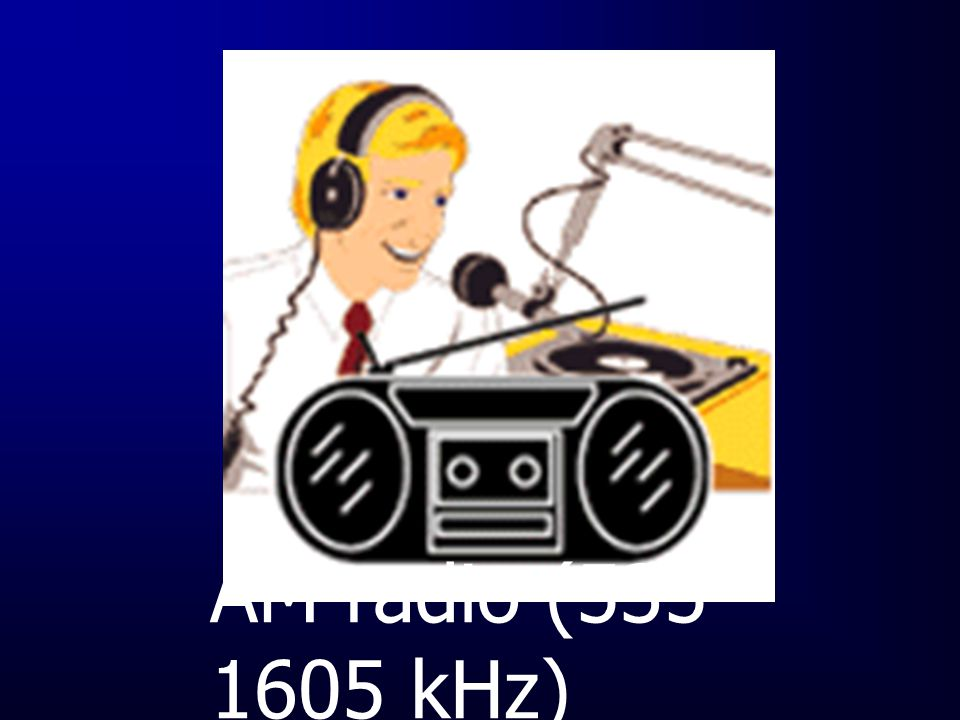 AM radio (535-1605 kHz)