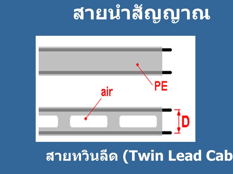 สายนำสัญญาณ ห สายทวินลีด (Twin Lead Cable)