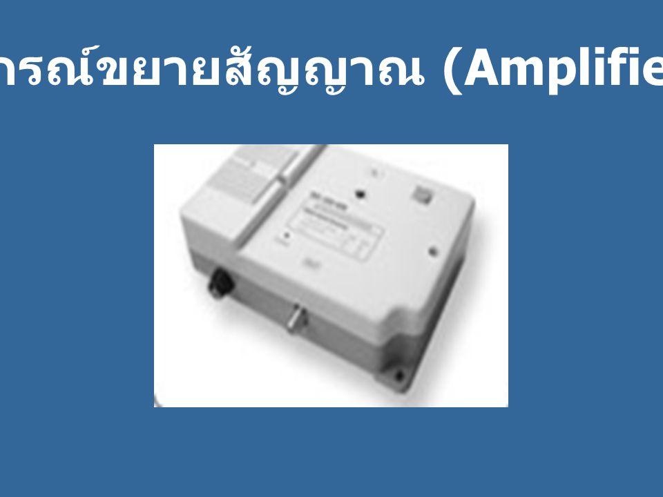 อุปกรณ์ขยายสัญญาณ (Amplifier)