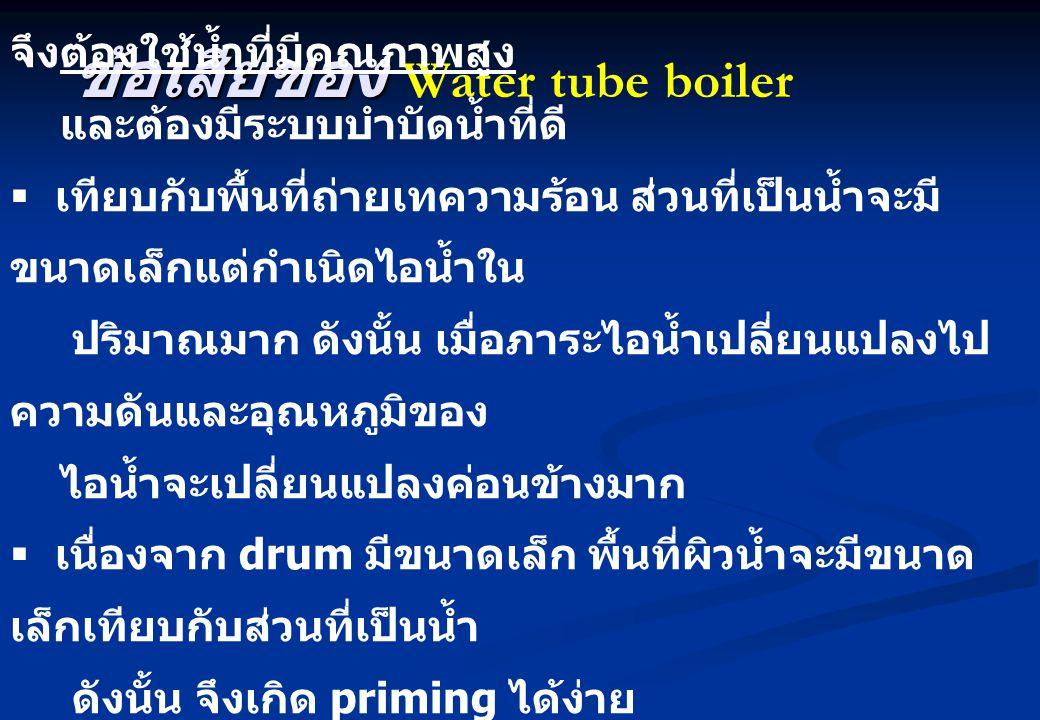 ข้อเสียของ Water tube boiler