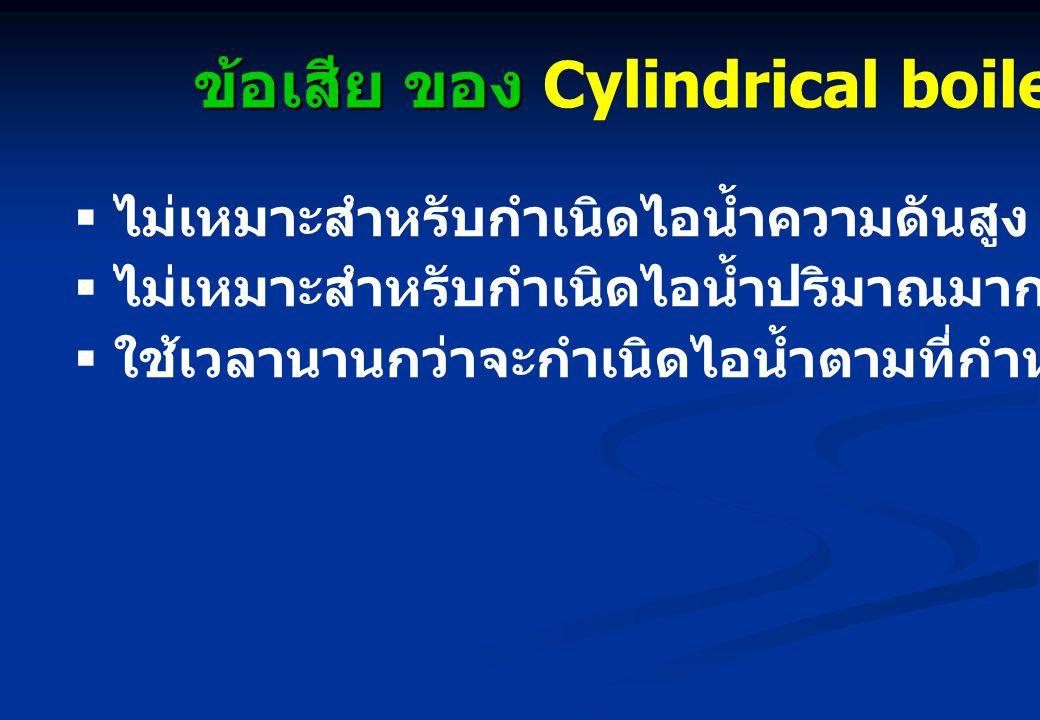 ข้อเสีย ของ Cylindrical boiler