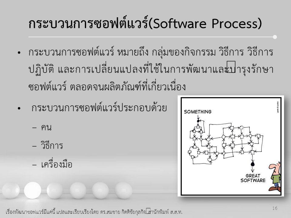 กระบวนการซอฟต์แวร์(Software Process)