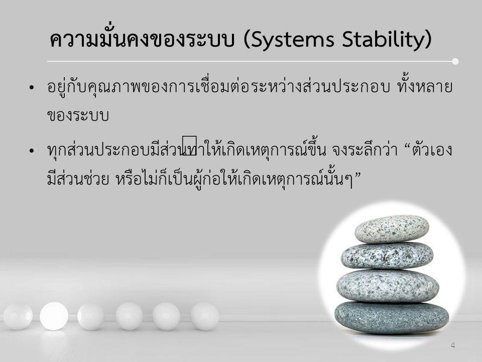 ความมั่นคงของระบบ (Systems Stability)