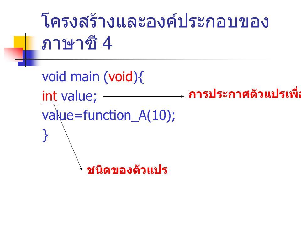 โครงสร้างและองค์ประกอบของภาษาซี 4