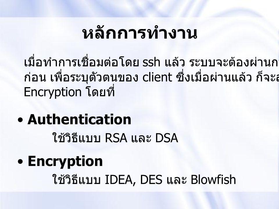 หลักการทำงาน Authentication Encryption