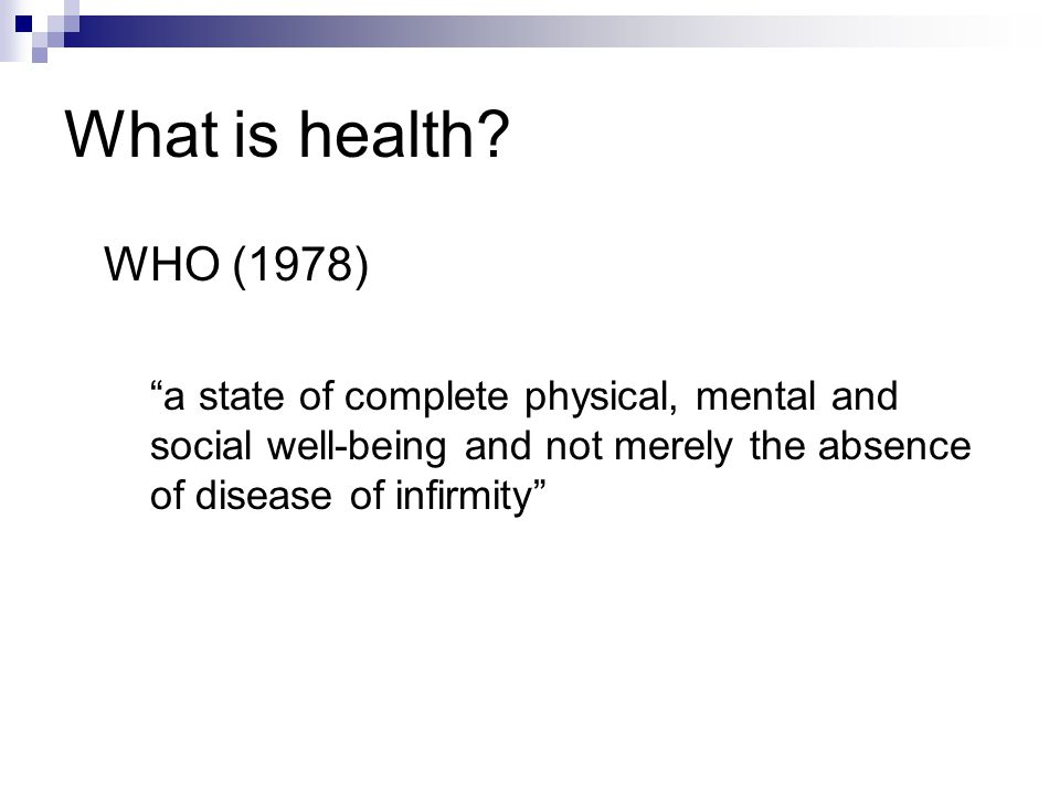 What is health.