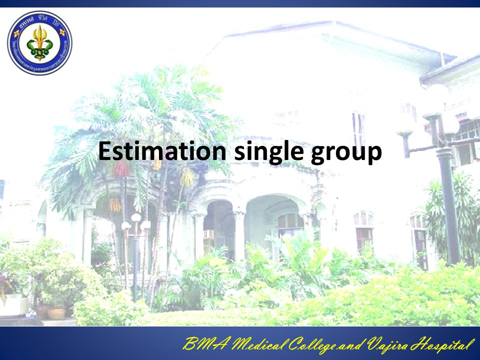 Estimation single group