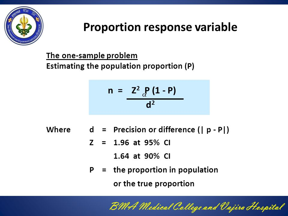 Proportion response variable