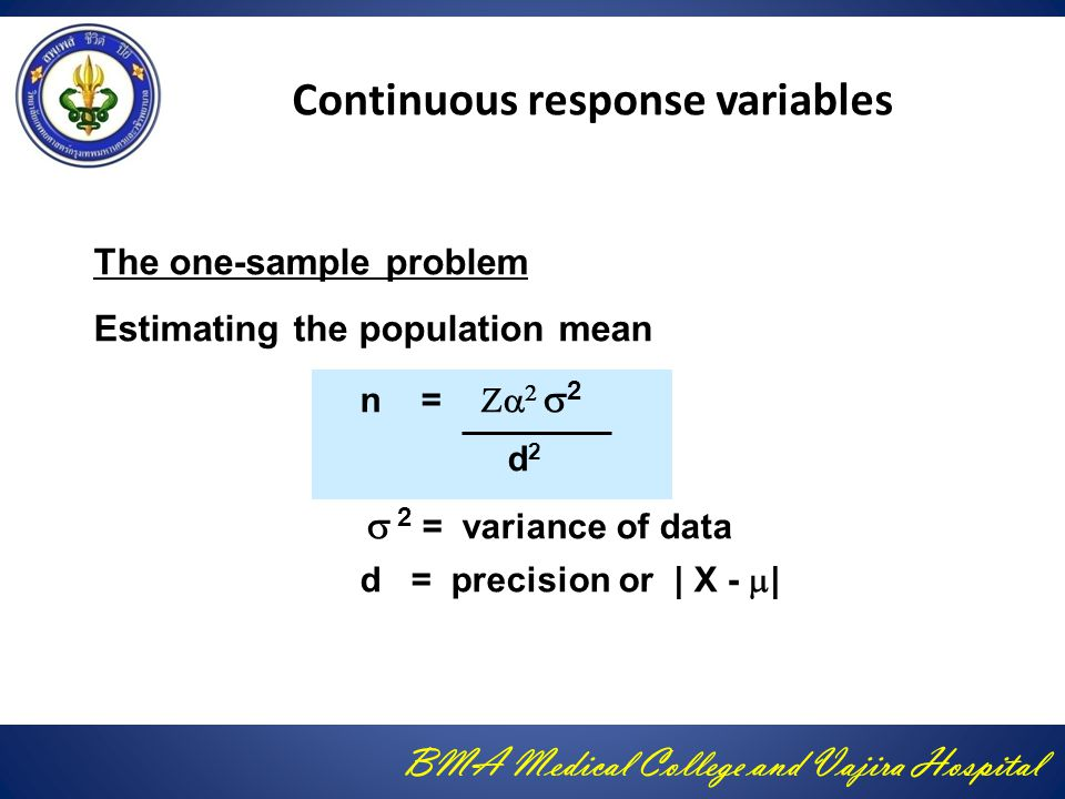 Continuous response variables