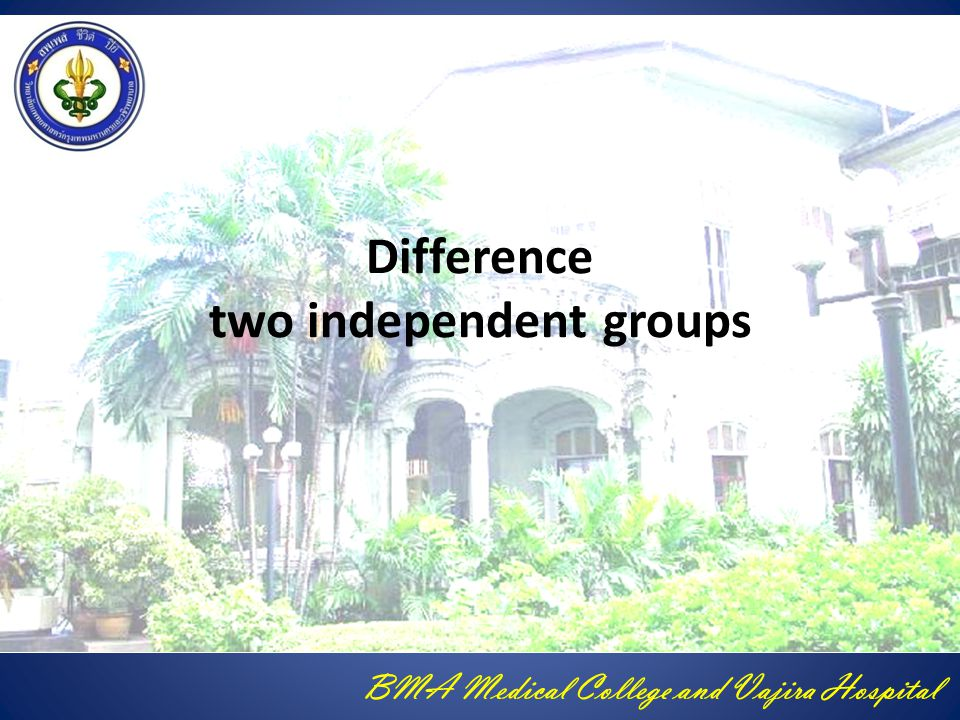 Difference two independent groups