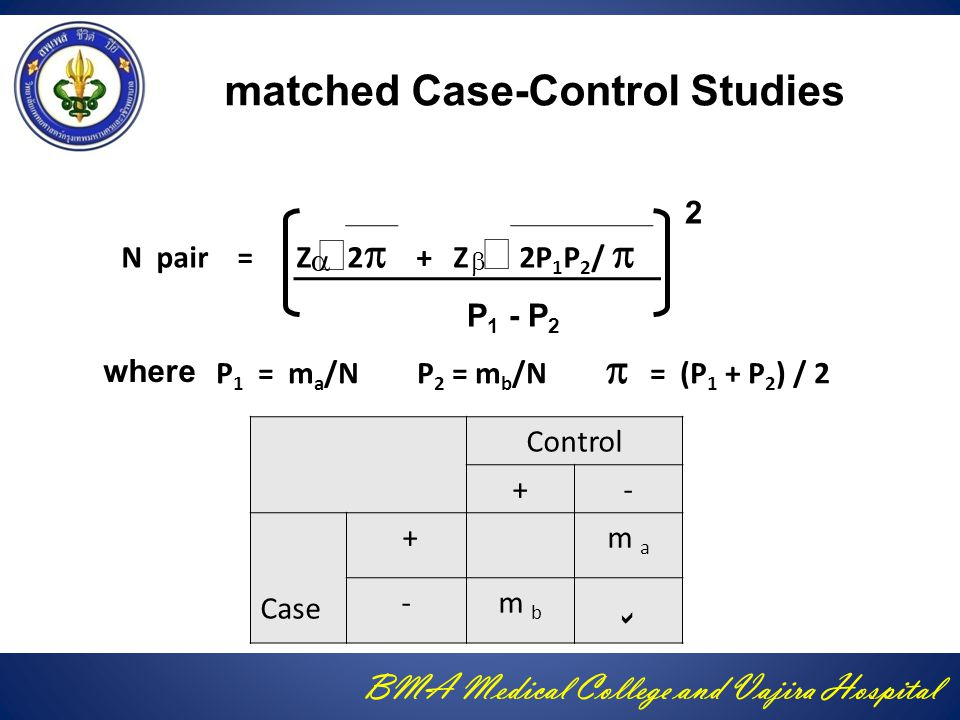 matched Case-Control Studies