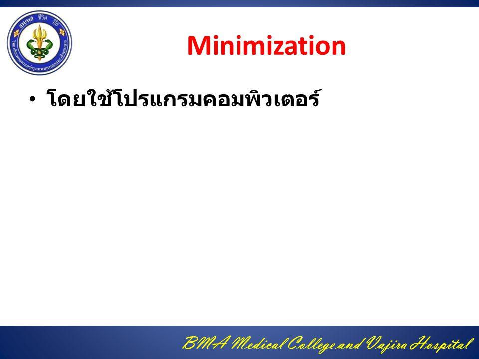Minimization โดยใช้โปรแกรมคอมพิวเตอร์