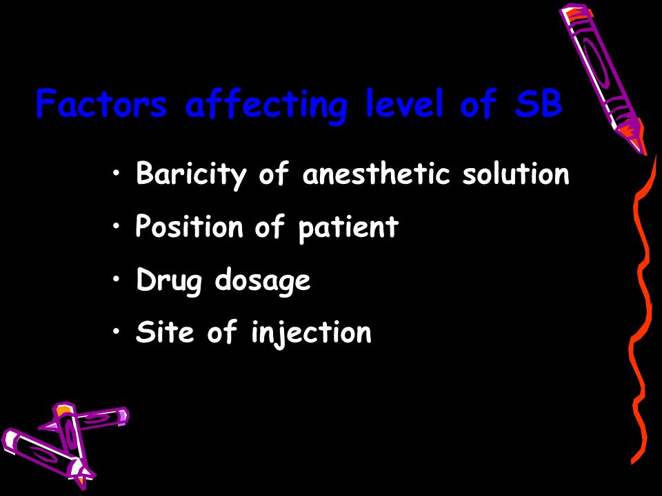 Factors affecting level of SB