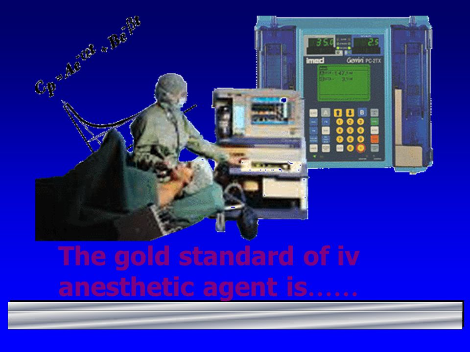 The gold standard of iv anesthetic agent is……