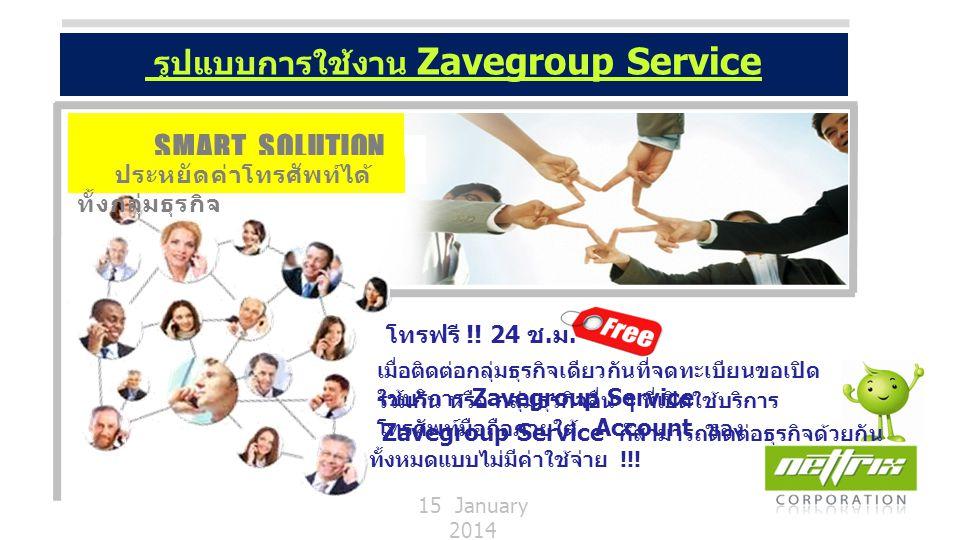 รูปแบบการใช้งาน Zavegroup Service