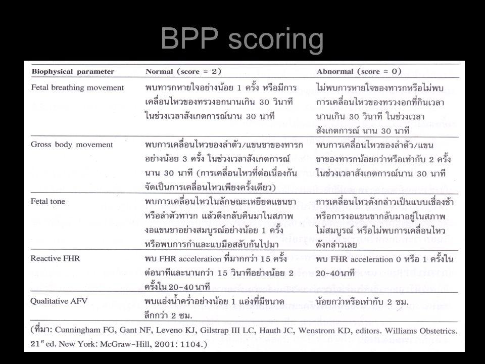 BPP scoring