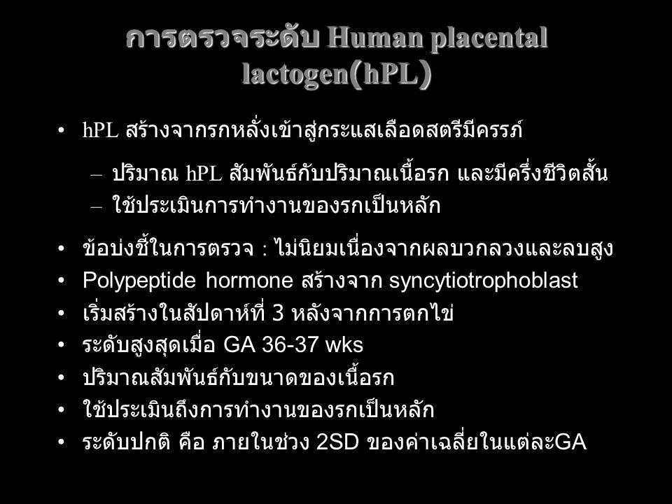 การตรวจระดับ Human placental lactogen(hPL)