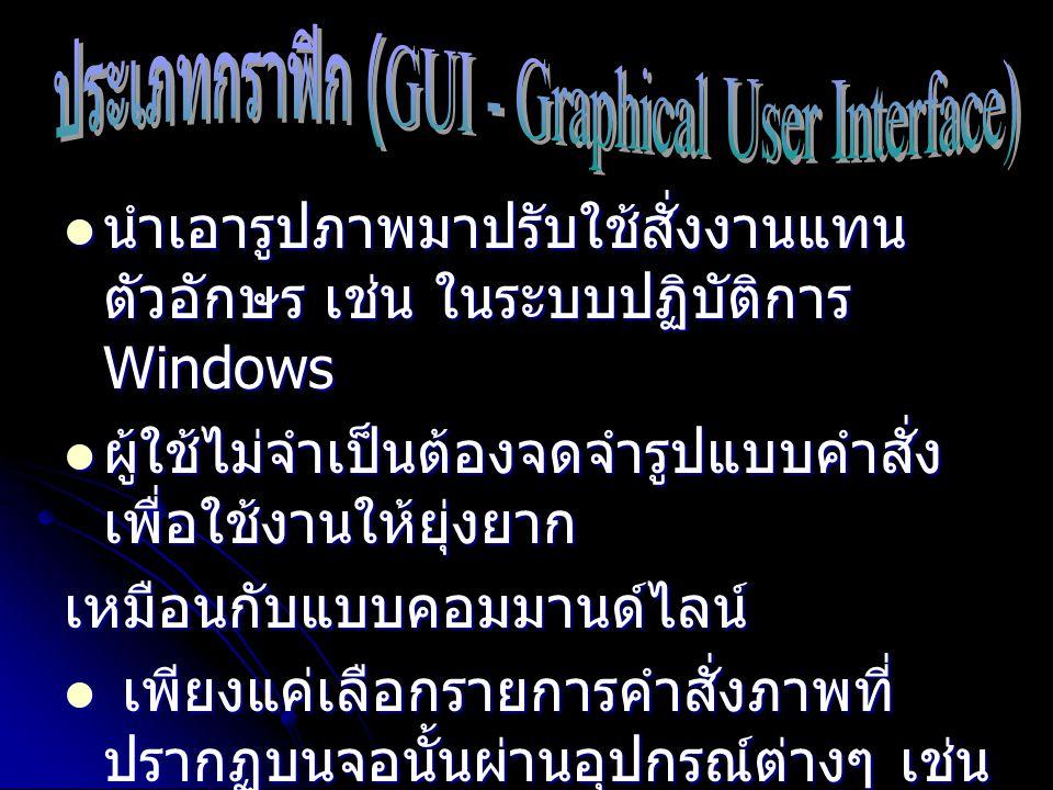 ประเภทกราฟิก (GUI - Graphical User Interface)