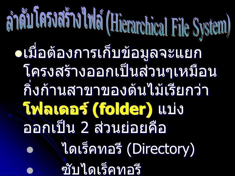 ลำดับโครงสร้างไฟล์ (Hierarchical File System)