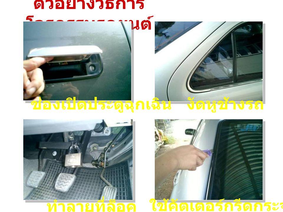 ตัวอย่างวิธีการโจรกรรมรถยนต์