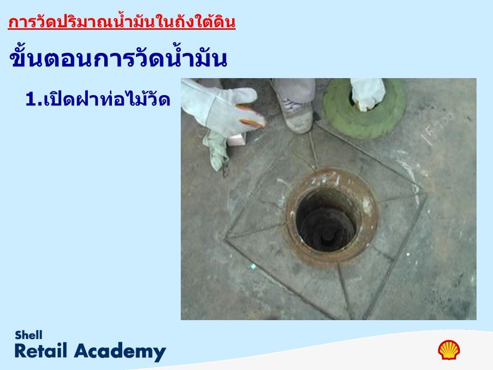 การวัดปริมาณน้ำมันในถังใต้ดิน