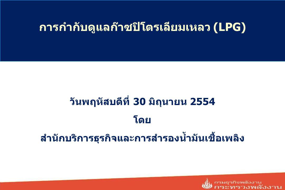 การกำกับดูแลก๊าซปิโตรเลียมเหลว (LPG)