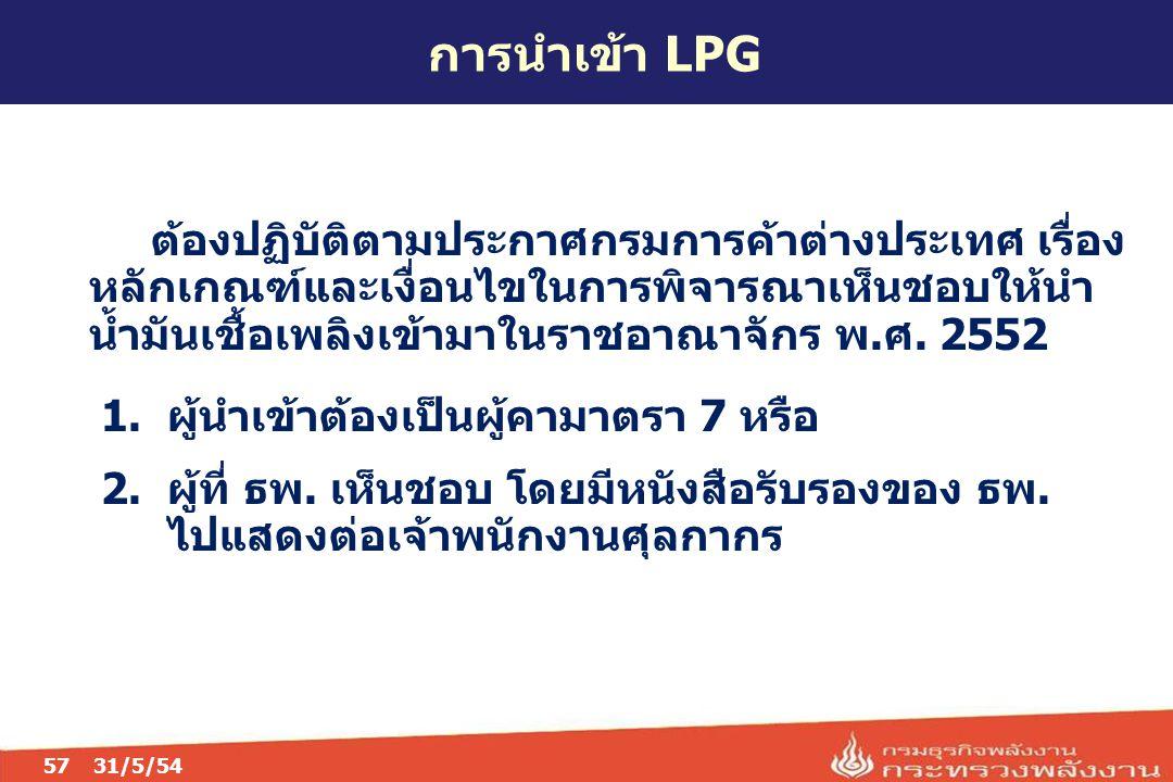 การนำเข้า LPG 05/04/60.