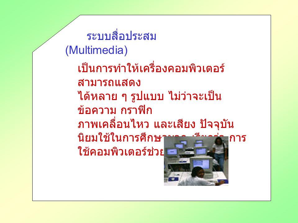 ระบบสื่อประสม (Multimedia)