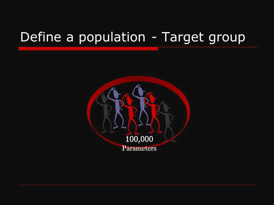 Define a population - Target group