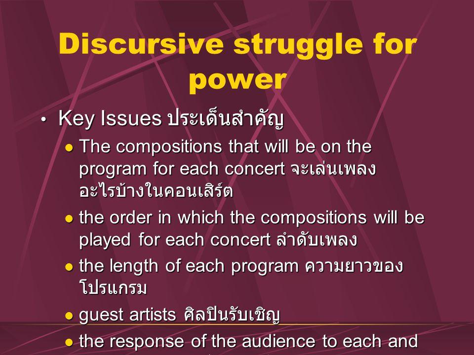 Discursive struggle for power