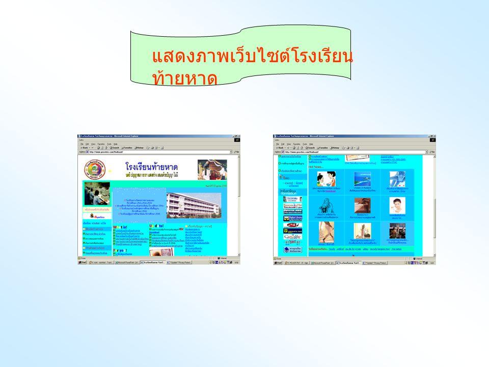แสดงภาพเว็บไซต์โรงเรียนท้ายหาด