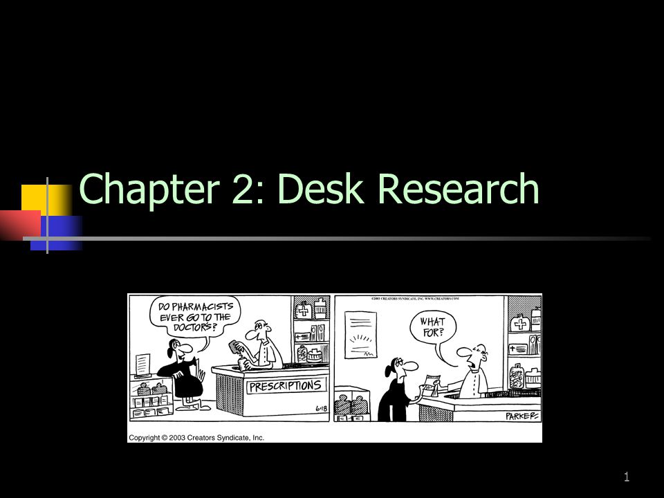 Chapter 2: Desk Research