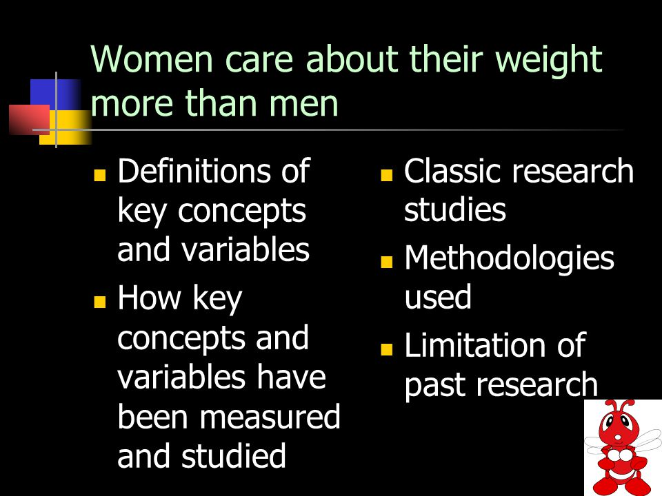 Women care about their weight more than men