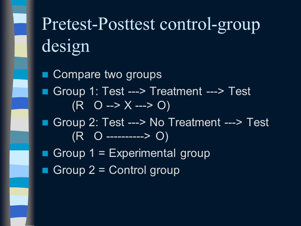 Pretest-Posttest control-group design