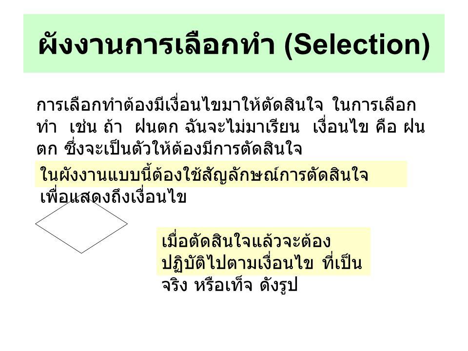 ผังงานการเลือกทำ (Selection)