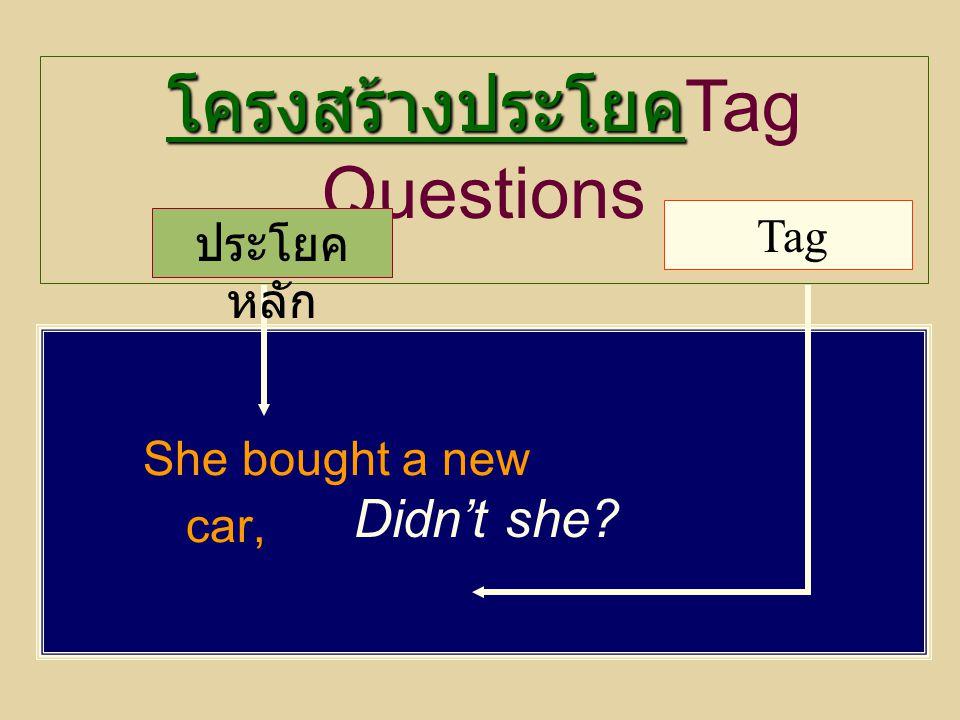 โครงสร้างประโยคTag Questions