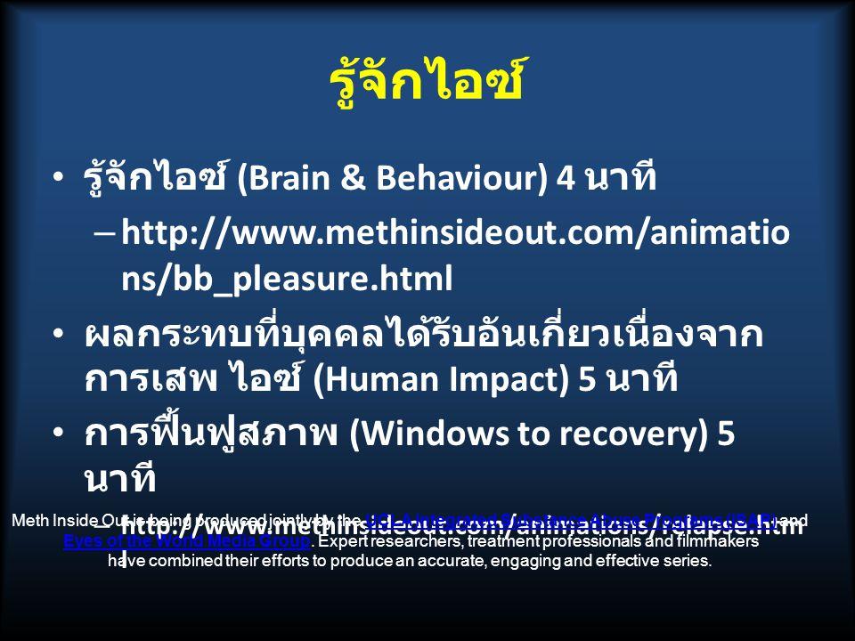 รู้จักไอซ์ รู้จักไอซ์ (Brain & Behaviour) 4 นาที