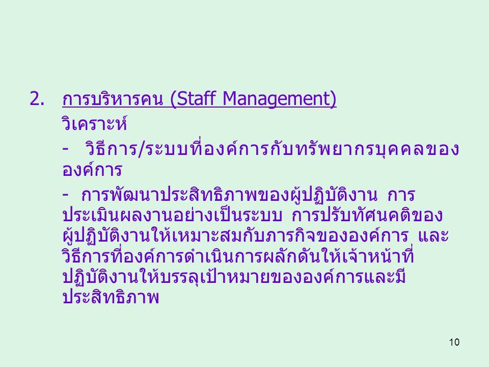 การบริหารคน (Staff Management)