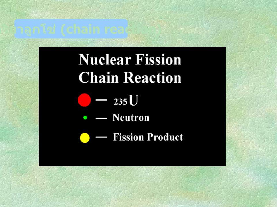 ปฏิกิริยาลูกโซ่ (chain reaction)