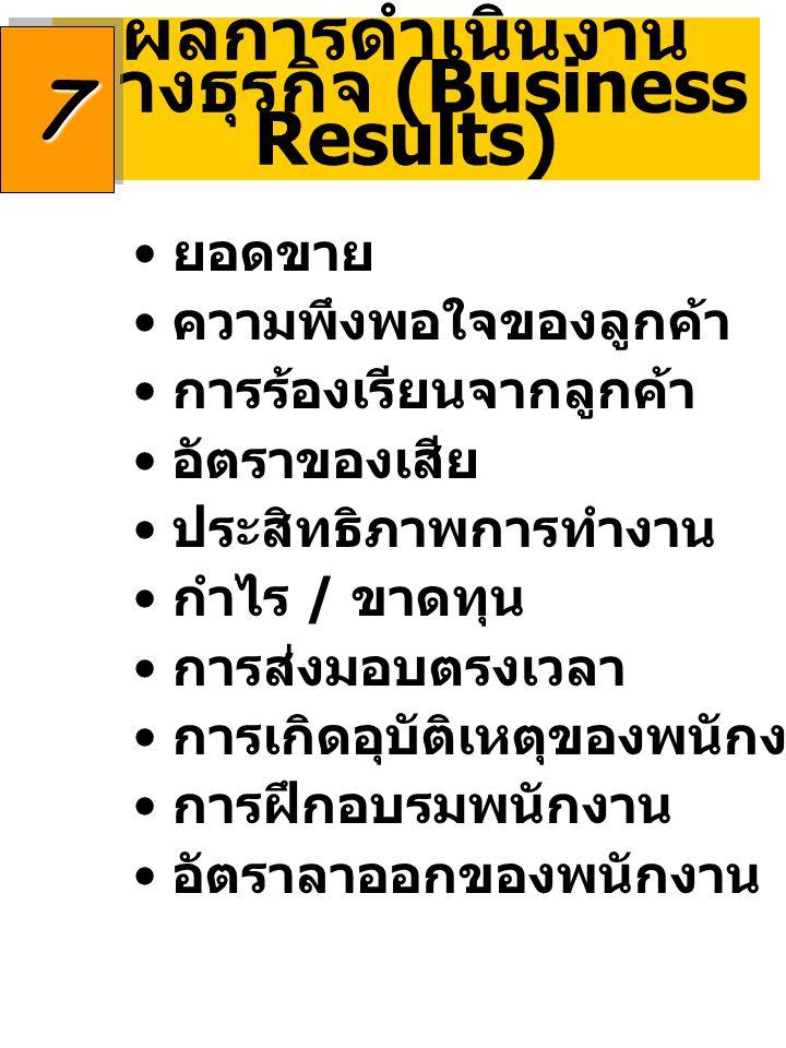 ผลการดำเนินงานทางธุรกิจ (Business Results)