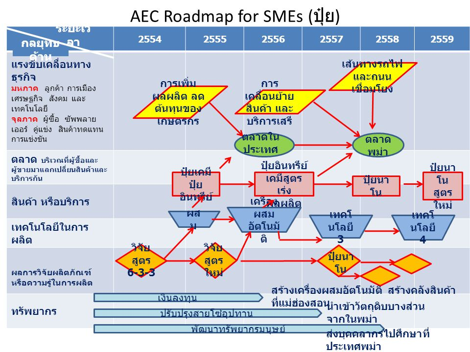 AEC Roadmap for SMEs (ปุ๋ย)