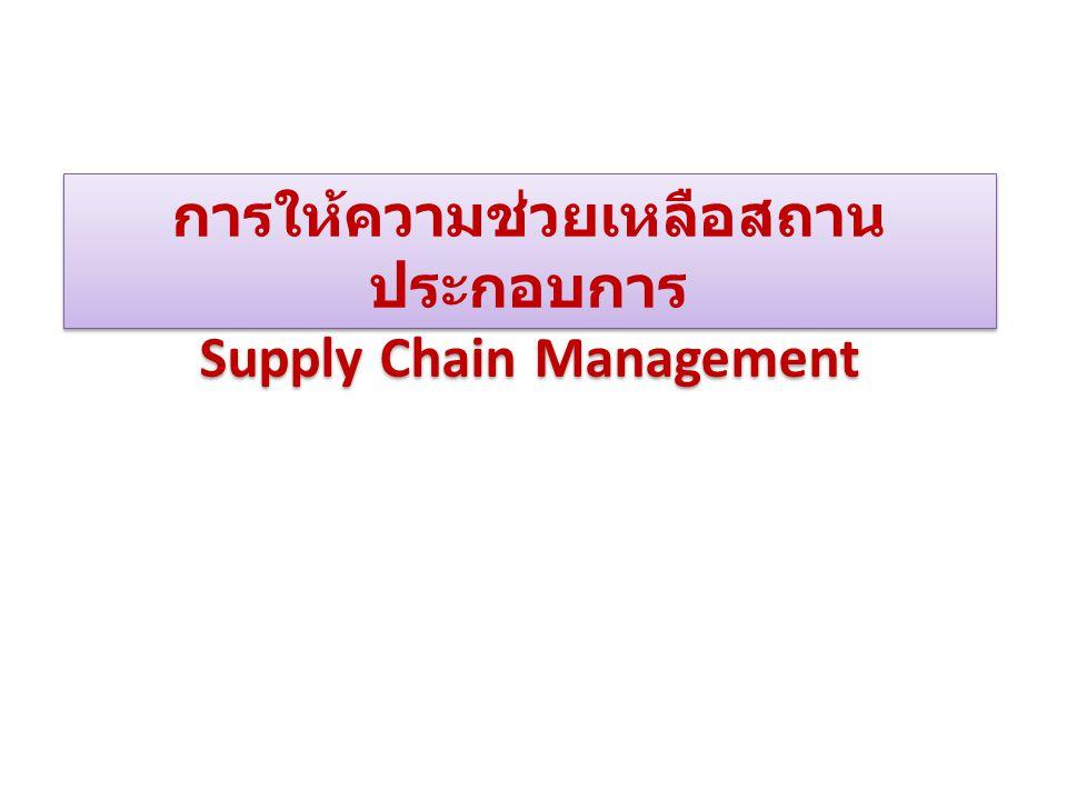 การให้ความช่วยเหลือสถานประกอบการ Supply Chain Management