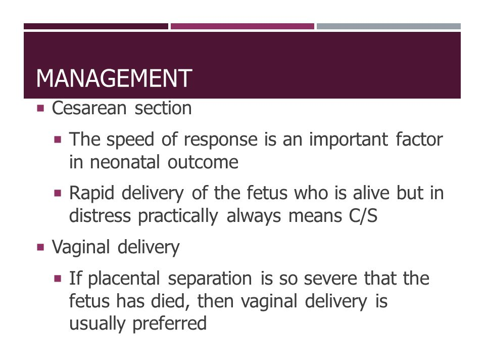 Management Cesarean section